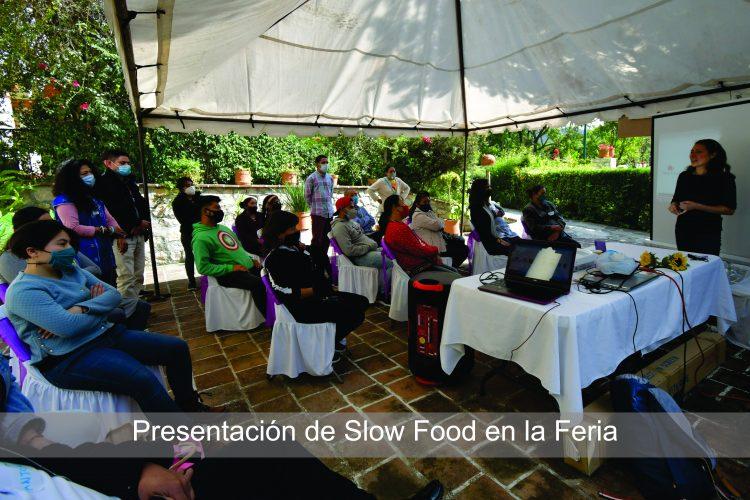 Presentación de slow food en la Feria