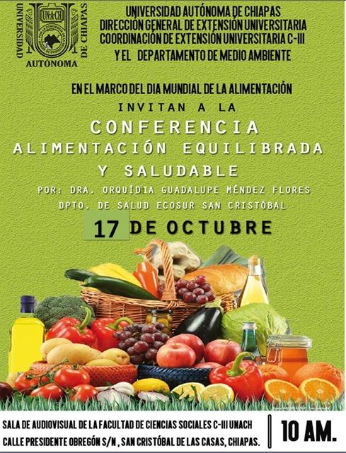 Portal De El Colegio De La Frontera Sur Conferencia Alimentacion Equilibrada Y Saludable