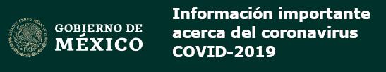 Información importante acerca del coronavirus COVID-2019